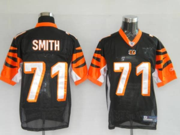 best website 83519 2bafa Bengals #71 Andre Smith Black Stitched NFL Jersey